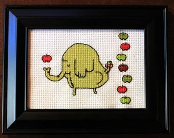 Adventure Time Tree Trunks and Her Apples cross stitch