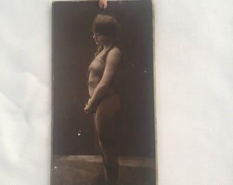 1916 Charles Gilhousen Silver Gelatin Hand Tinted Photograph-Risque