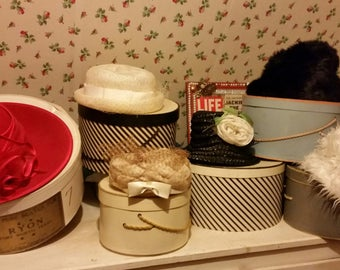 Vintage Hat and Hat Boxes