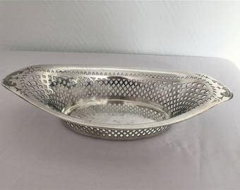 basket for bread or fruit perforated metal