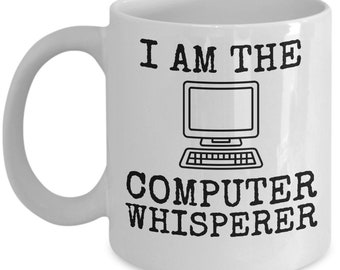 Computer Whisperer Mug Tech Whiz IT Gift Coffee Cup