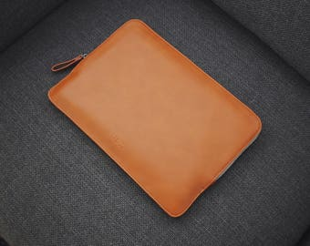 12 Inch MacBook Leather Sleeve Case - Brown