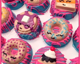 12 Shopkins Chocolate Covered Oreos (Birthday, Shopkins party favors, Chocolate)
