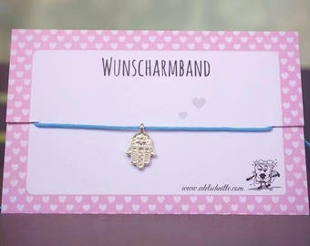 Wish Bracelet * Hamsa hand * Silver
