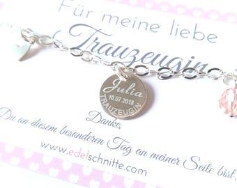 "Bracelet ~ ""Wedding Witness"" ~ 925 silver"