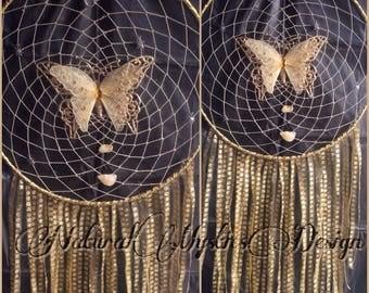 "Large 12"" Glittery Butterfly Dreamcatcher"