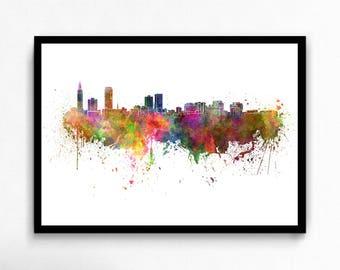 Watercolor Baton Rouge canvas art print poster
