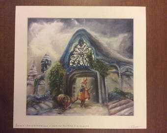 Oil Painting of 'Burmecia with Freya Crescent' - Limited Edition Mounted Print