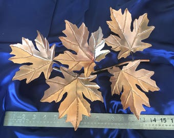 "15"" Solid Copper Maple Leaf Spray"