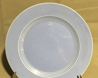 "Vintage Blue Ceramic Dinner Plate 10"" diameter"
