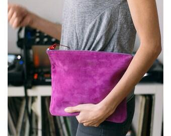 pink leather clutch, evening bag ,oversized clutch handbag