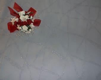 Lilac Silver Sparkle Crepe