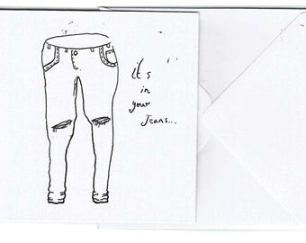 Jeans Card.