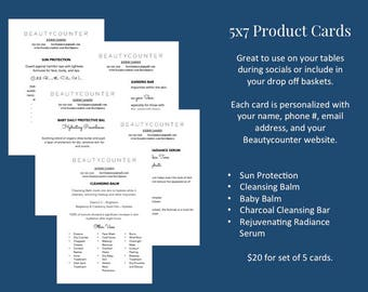 Beautycounter Product Cards