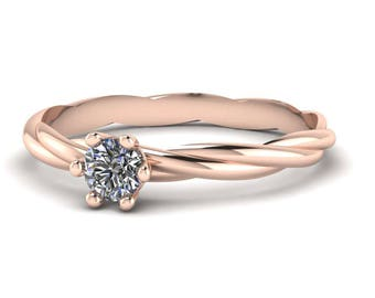 585/-Gold engagement ring 0.25 ct
