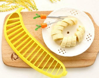 1PC Banana Slicer Cutter Chopper Fruit Salad Vegetable Peeler Kitchen Tool New