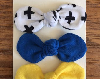 "3"" Bows with alligator clip"
