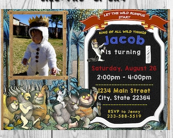 Where The Wild Things Are Invitation, Where The Wild Things Are Party Invite, Where The Wild Things Are, Where The Wild Things Are Invite