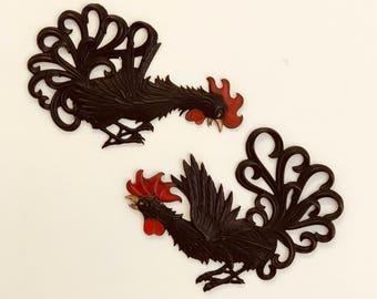 Fighting Roosters Etsy