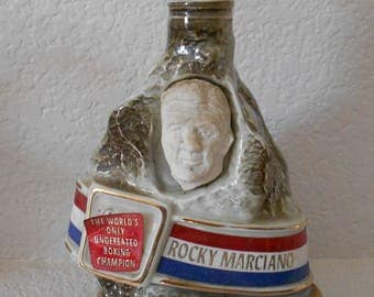 Rocky Marciano BEAM bourbon whiskey bottle/decanter 1973/The world's only undefeated boxing champion