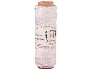 Hemp Cord Spool 10# 205 Feet/Pkg-White