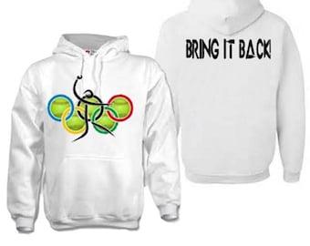 "Olympic softball white hoodie ""bring it back"""
