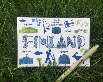 Finland Post Card