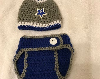 Crochet Diaper Cover and Beanie
