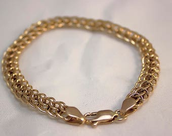 women's braided bracelet 14K gold