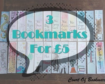 Set Of 3 Bookmarks