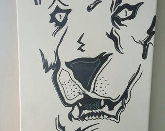 Lion acrylic Painting