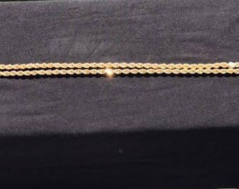 "4mm 18k yellow gold rope chain 18"""