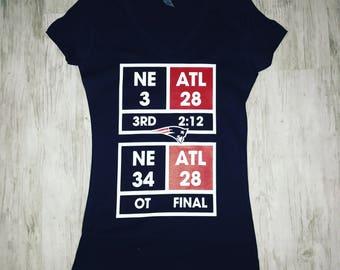 Super Bowl 51 Patriots Score Shirt