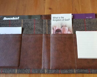 PRE-ORDER JW Ministry Folder - Luxury, Magazine folder, Tract Holder, Service Organiser, Invitation Holder