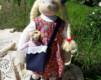 "Katie-18"" Waldorf Inspired Doll, ECO, Handmade"