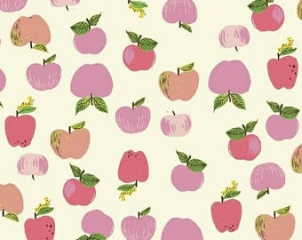 PREORDER - Heather Ross - Apples in Pink - Kinder - (43483-1) - 1/2 Yard++