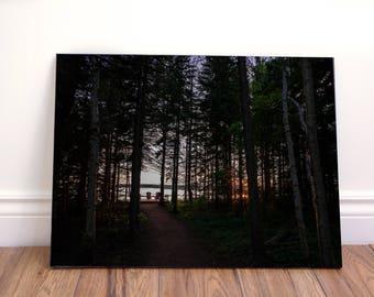 Romantic woods landscape wall art canvas