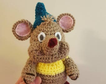 Gus gus inspired plush toy~ cinderella mouse crochet doll~ disney inspired toy