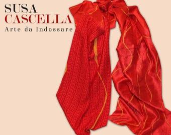 BALANCE silk cotton scarf