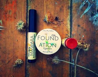 The Basics/3in1/Foundation+Mascara+Color Stick/Detoxifying Mascara/Silk Foundation/Herbal Color Stick/Herbal Beauty/Botanical Beauty/Organic
