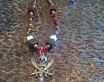 Pirates of the Caribbean theme necklace