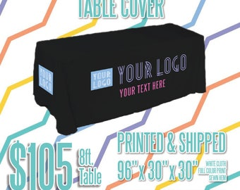 LLR Table Cover - Black 8ft.