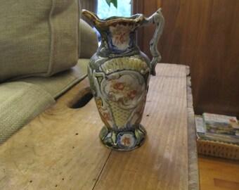 Vintage Hand Painted Bud/Water Vase #'d Nice!