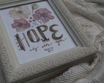 Hope Scripture, Bible Verse Painting