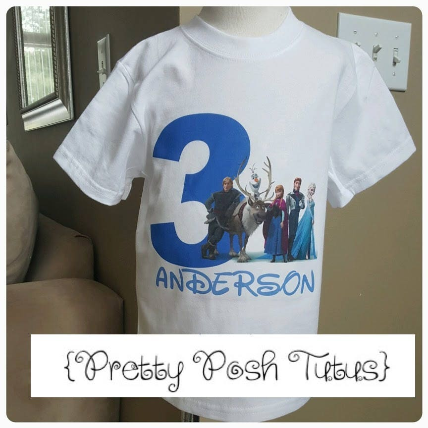 Frozen Boy Birthday Shirt Any Age And Name 2t
