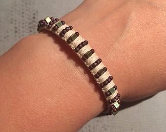 Spike Bracelet - Punk Bracelet / Goth Bracelet / Hemp Bracelet / Macrame Bracelet / Beaded Bracelet / Button Bracelet / Gifts for Girls