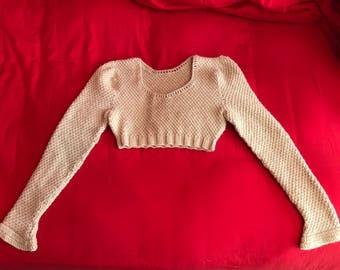 Crop Sweater, Wool Sweater, Sweater