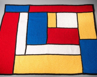 Mondrian Inspired Baby Blanket