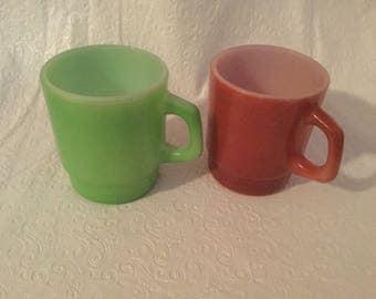 Vintage  fire king coffee mugs