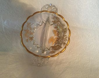 Vintage  divided relish dish .